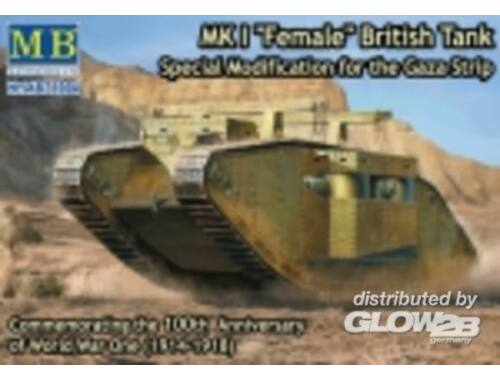 Master Box Mk I Female British tank,Specila modific 1:72 (72004)