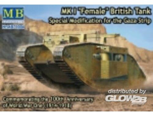 Master Box Mk I Female British tank,Specila modific 1:72 (72004)