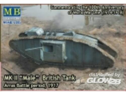 Master Box Mk II Male British tank.Arras Battle per 1:72 (72005)
