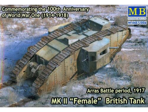 Master Box Mk II Female British tank.Arras Battle 1:72 (72006)