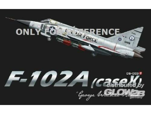 """Meng F-102A (case X) """"George Walker Bush"""" 1:72 (DS-003s)"""