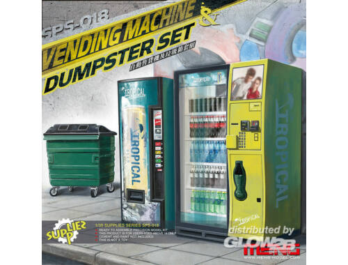 Meng Vending Machine   Dumster Set 1:35 (SPS-018)