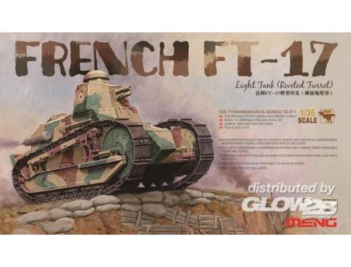 Meng French FT-17 Light Tank (Riveted Turret) 1:35 (TS-011)