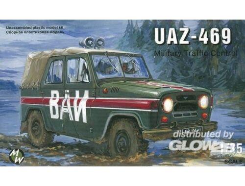 Military Wheels UAZ-469 Military milicia 1:35 (3503)