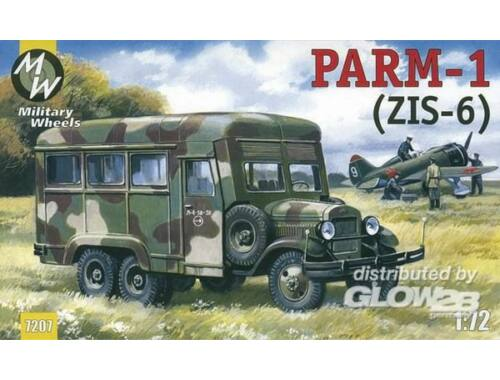 Military Wheels PARM-1   rubber wheels 1:72 (7207-02)