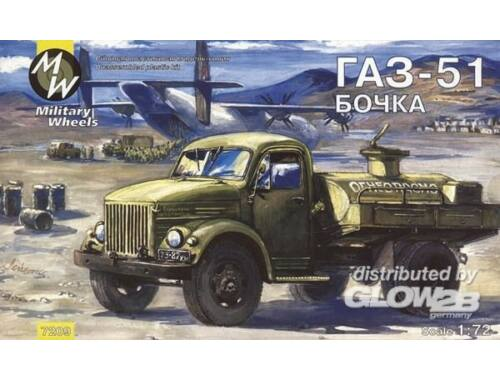 Military Wheels AK-2-51-04-PS on the GAZ-51 1:72 (7209)