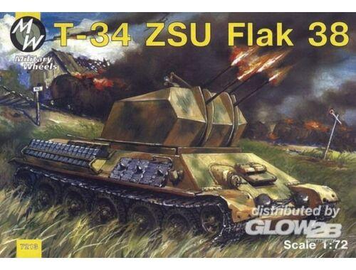 Military Wheels T-34 Flak 38 1:72 (7213)