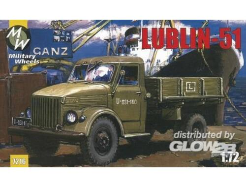 Military Wheels Lublin 51 on the GAZ-51 1:72 (7216)