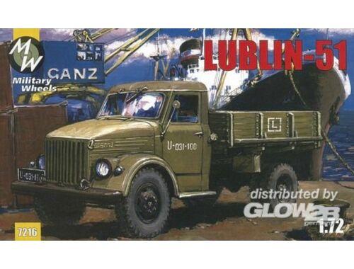 Military Wheels Lublin 51 on the GAZ-51 1:72 (7216)