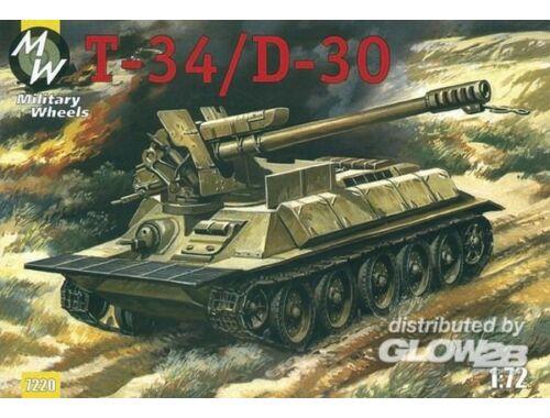 Military Wheels T-34/D-30 1:72 (7220)