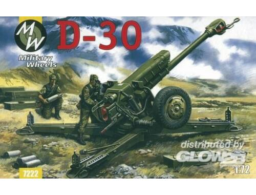 Military Wheels D-30 122 mm 1:72 (7222)