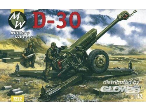 Military Wheels D-30 122 mm 1:72 (7222)