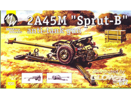 Military Wheels 2A45M ''Sprut-B'' anti tunk gun 1:72 (7231)