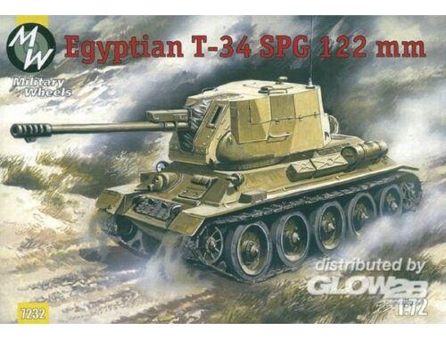 Military Wheels T-34-122 Egypt Army 1:72 (7232)