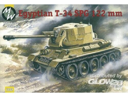 Military Wheels T-34-122 Egypt Army 1:72 (7232)