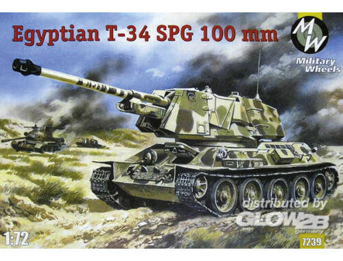 Military Wheels T-34-100 Egypt Army 1:72 (7239)