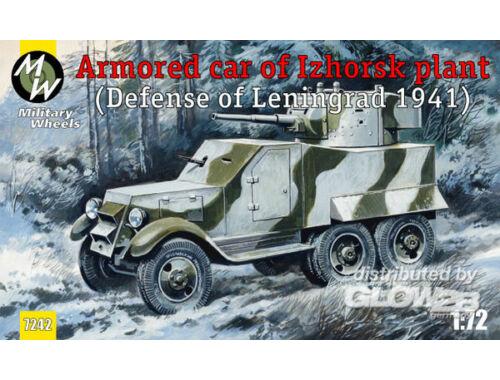 Military Wheels Armored car of Izhorsk plant, Leningrad 1:72 (7242)