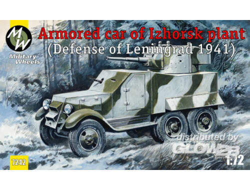 Military Wheels Armored car of Izhorsk plant, Leningrad 1:72 (7242)