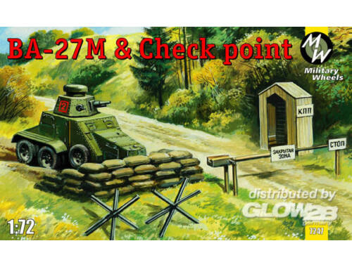 Military Wheels Ba-27M   Checkpoint 1:72 (7247)