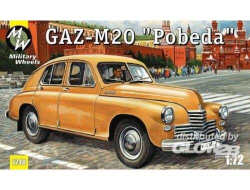 Military Wheels GAZ-M20 Pobeda Soviet car 1:72 (7248)