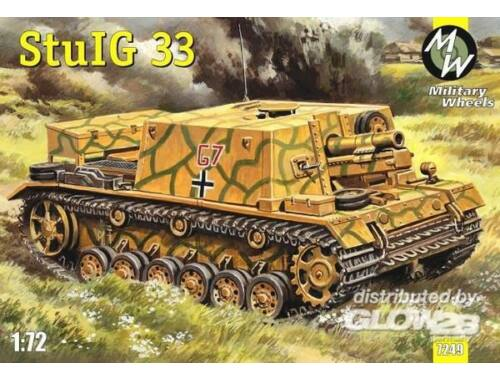 Military Wheels StulG 33 German self-propelled gun 1:72 (7249)