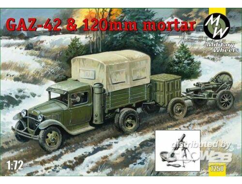 Military Wheels GAZ-42   120 mm mortar 1:72 (7250)