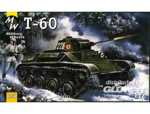 Military Wheels T-60 tank 1:72 (7251)