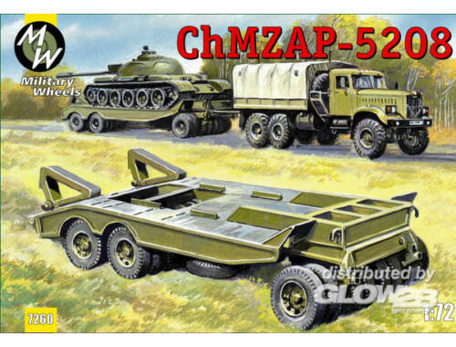 Military Wheels ChMZAP-5208 trailer 1:72 (7260)