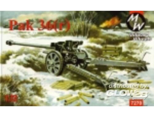 Military Wheels Pak 36r Germann gun 1:72 (7270)