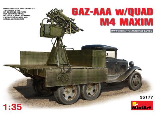 Miniart GAZ-AAA w/Quad M4 Maxim 1:35 (35177)