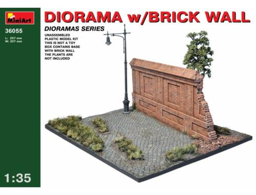 Miniart Diorama with Brick Wall 1:35 (36055)
