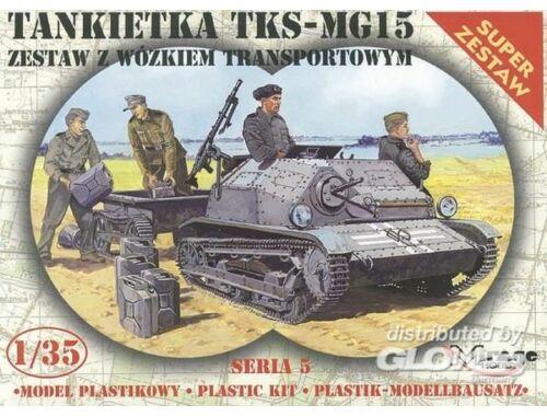 Mirage Hobby Tankette TKS/MG 15 mit Universal Transportanhänger 1:35 (35515)