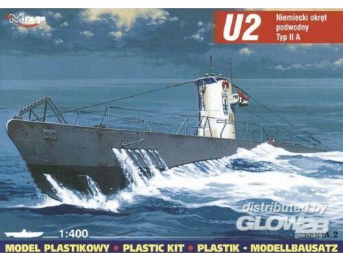 Mirage Hobby Deutsches U-Boot U 2 Typ IIA 1:400 (40023)