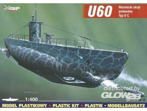 Mirage Hobby Deutsches U-Boot U 60 Typ II C 1:400 (40025)