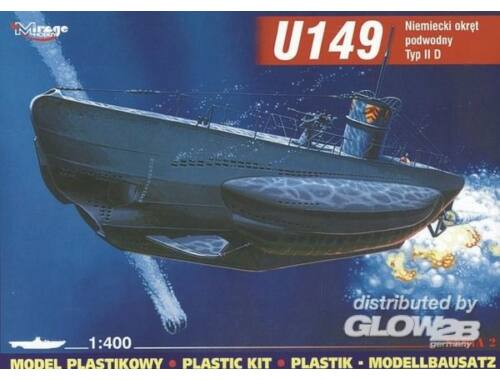 Mirage Hobby Deutsches U-Boot U 149 Typ IID 1:400 (40026)