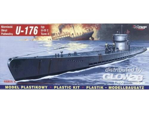 Mirage Hobby Deutsches U-Boot U 176 Typ IX C 1:400 (40041)