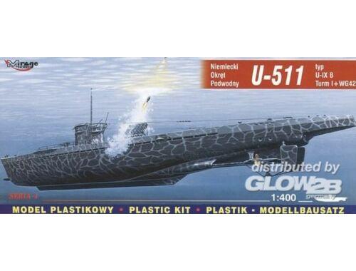 Mirage Hobby Deutsches U-Boot U 511 Typ IX B Turm I und WG42 1:400 (40042)