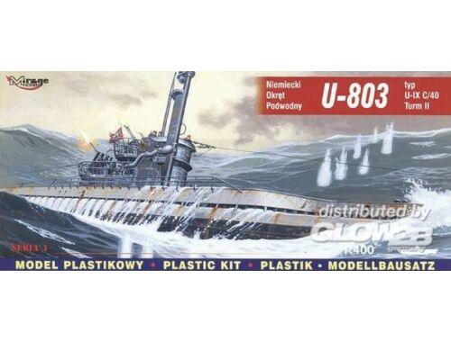 Mirage Hobby Deutsches U-Boot U 803 Typ IX C/40 Turm II 1:400 (40044)