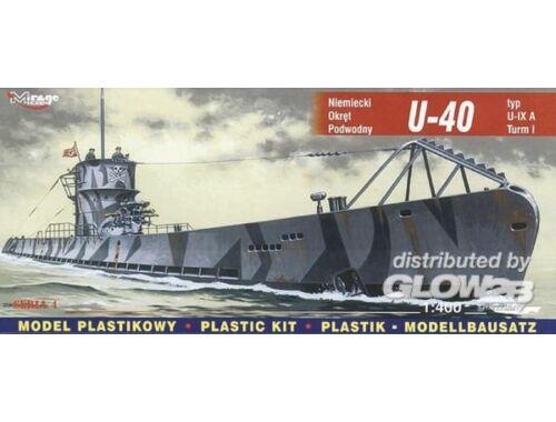 Mirage Hobby Deutsches U-Boot U 40 Typ IX A Turm I 1:400 (40045)