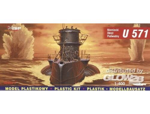 Mirage Hobby Deutsches U-Boot U 571 Special Edition 1:400 (40049)
