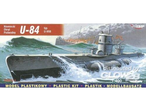 Mirage Hobby Deutsches U-Boot U 84 Typ VII B 1:400 (40410)