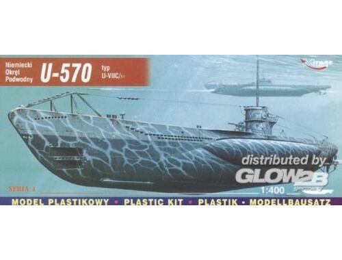 Mirage Hobby Deutsches U-Boot U 570 Typ VII C Turm I 1:400 (40411)