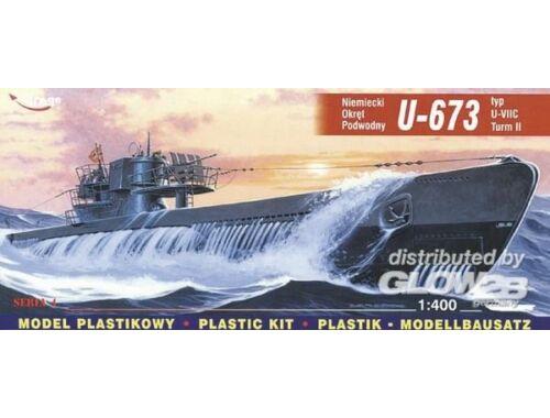 Mirage Hobby Deutsches U-Boot U 673 Typ VII C Turm II 1:400 (40412)