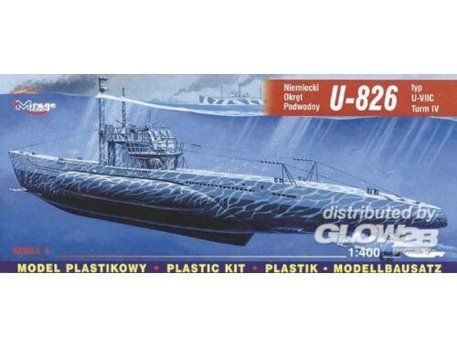 Mirage Hobby Deutsches U-Boot U 826 Typ VII C Turm 4 1:400 (40413)