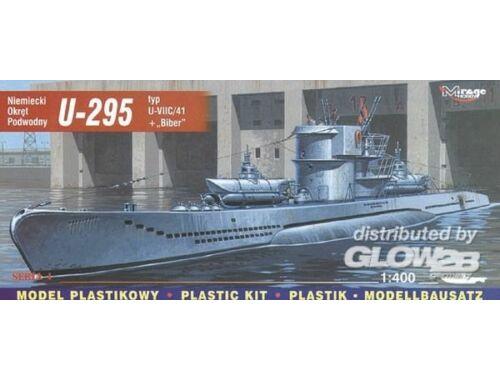 Mirage Hobby Deutsches U-Boot U 295 Typ VII C/41 mit Biber 1:400 (40414)