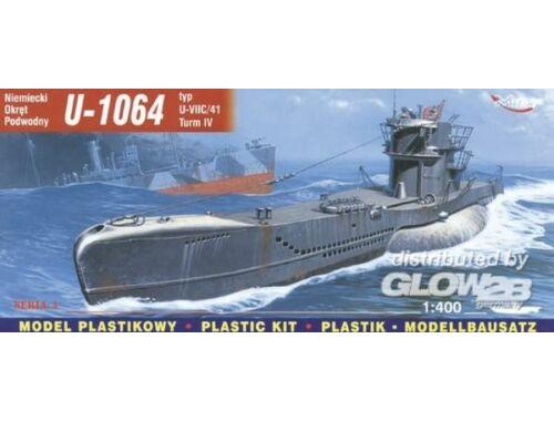 Mirage Hobby Deutsches U-Boot U 1064 Typ VII C/41 Turm 4 1:400 (40415)