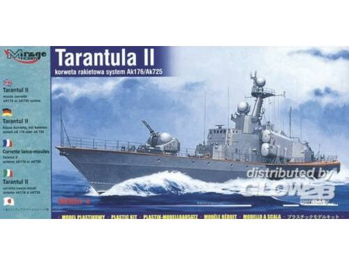 Mirage Hobby Tarantul II Raketen-Korvette mit Raketensystem AK 176 oder AK 725 1:400 (40420)