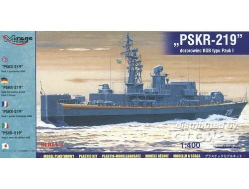 Mirage Hobby KGB-Patrouillenschiff PSKR-219 Pauk I-Klasse 1:400 (40423)