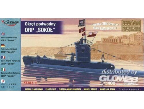 Mirage Hobby Polnisches U-Boot ORP Sokol mit Fotoätzteilen 1:400 (40428)
