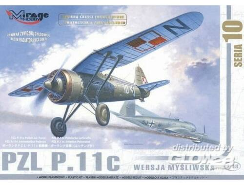 Mirage Hobby PZL P-11 C Polnische Luftwaffe mit Resin- und Fotoätzteilen 1:48 (48101)